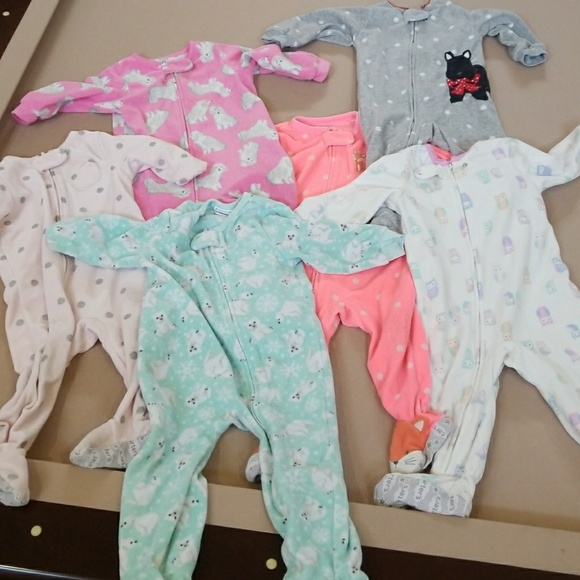 Carter s Other - Carter s fleece onesie footed pajamas 12 months 71fd42225